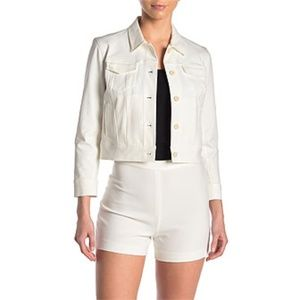 Theory Front Button Crop Jacket